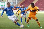Dave Mackay tackles Omar Daley