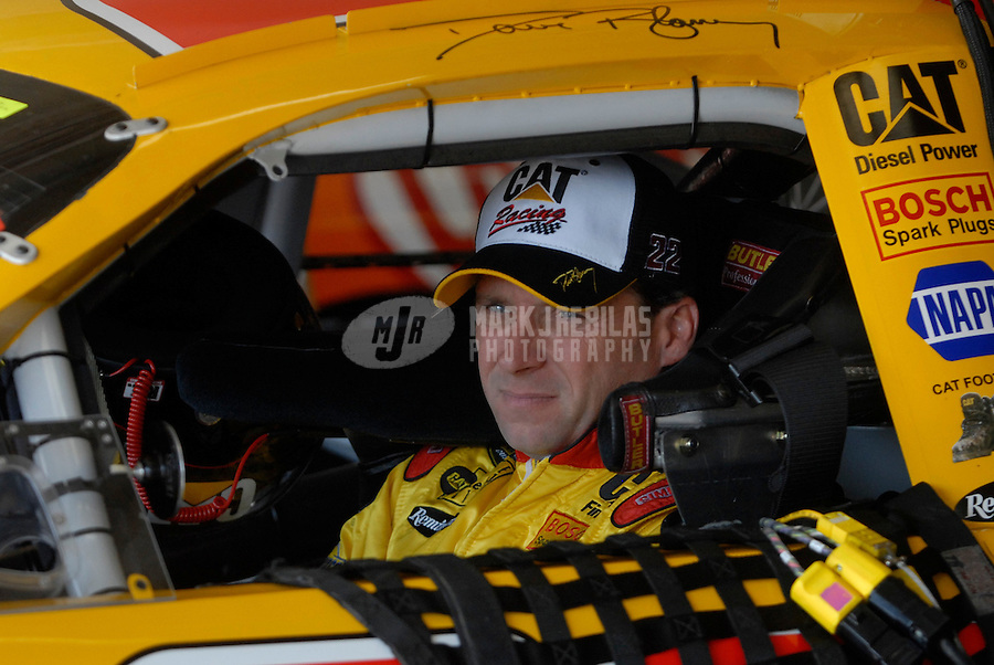Nov 5, 2006; Fort Worth, TX, USA; Nascar Nextel Cup driver Dave Blaney (22) during the Dickies 500 at Texas Motor Speedway. Mandatory Credit: Mark J. Rebilas