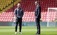 Swansea City manager Paul Clement looks around Vicarage Road Stadium prior to kick off of the Premier League match between Watford and Swansea City at Vicarage Road Stadium, Watford, England, UK. Saturday 15 April 2017