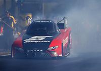 Apr 21, 2017; Baytown, TX, USA; NHRA funny car driver Cruz Pedregon during qualifying for the Springnationals at Royal Purple Raceway. Mandatory Credit: Mark J. Rebilas-USA TODAY Sports
