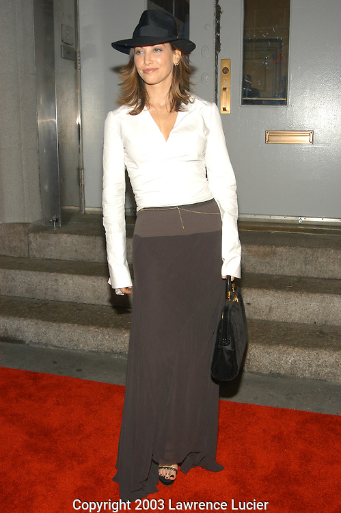 NEW YORK - JUNE 19: Actress Gina Gershon arrives at the Comedy Central Roast of Denis Leary June 19, 2003, at Hammerstein Ballroom in New  York City.