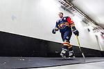 Stockholm 2015-09-04 Ishockey CHL Djurg&aring;rdens IF - EV Zug :  <br /> Djurg&aring;rdens Matt Anderson p&aring; v&auml;g till omkl&auml;dningsrummet inf&ouml;r matchen mellan Djurg&aring;rdens IF och EV Zug <br /> (Foto: Kenta J&ouml;nsson) Nyckelord:  Ishockey Hockey CHL Hovet Johanneshovs Isstadion Djurg&aring;rden DIF Zug portr&auml;tt portrait inomhus interi&ouml;r interior