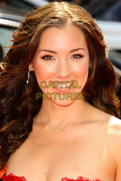"CARLY CRAIG.World Premiere of ""The Three Stooges: The Movie,"" at Grauman's Chinese Theatre in Hollywood. Hollywood, CA USA. .April 7th, 2012.headshot portrait strapless.CAP/CEL .©CelPh/Capital Pictures."