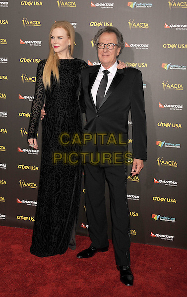 LOS ANGELES, CA - JANUARY 31: Actors Nicole Kidman (L) and Geoffrey Rush attend the 2015 G'Day USA Gala featuring the AACTA International Awards presented by Qantas at Hollywood Palladium on January 31, 2015 in Los Angeles, California.<br /> CAP/ROT/TM<br /> &copy;TM/ROT/Capital Pictures