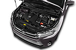 Car Stock 2017 Toyota Highlander Limited-Platinum 5 Door SUV Engine  high angle detail view