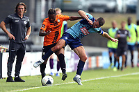 Mauro Vilhete of Barnet  and Matt Bloomfield of Wycombe Wanderers during Barnet vs Wycombe Wanderers, Friendly Match Football at the Hive Stadium on 13th July 2019