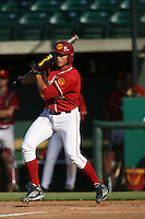Ricky Oropesa of the USC Trojans during game against the  Western Carolina Catamounts at Dedeaux Field in Los Angeles,CA.  Photo by Larry Goren/Four Seam Images