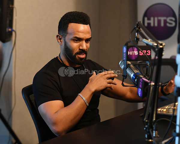 HOLLYWOOD, FL - JANUARY 11: Craig David visits radio station Hits 97.3 Live on January 11, 2018 in Hollywood, Florida. Credit: mpi04/MediaPunch