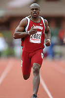 31 March 2006: Wopamo Osaisai during Stanford's Track & Field Invitational at Cobb Track & Angell Field in Stanford, CA.