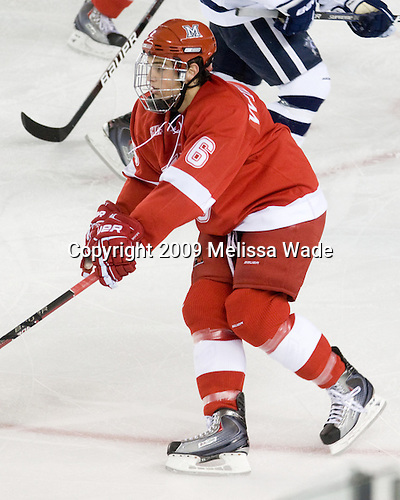 Chris Wideman (Miami - 6) - The Miami University Redhawks and University of New Hampshire Wildcats played to a 5-5 tie on Saturday, October 17, 2009, at the Whittemore Center in Durham, New Hampshire.