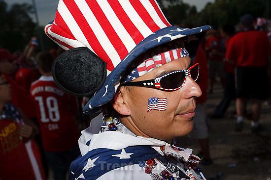 Sandy - USA vs. El Salvadar FIFA World Cup Qualifier Soccer Saturday, September 5 2009 at Rio Tinto Stadium. .American Outlaws pre-game tailgate