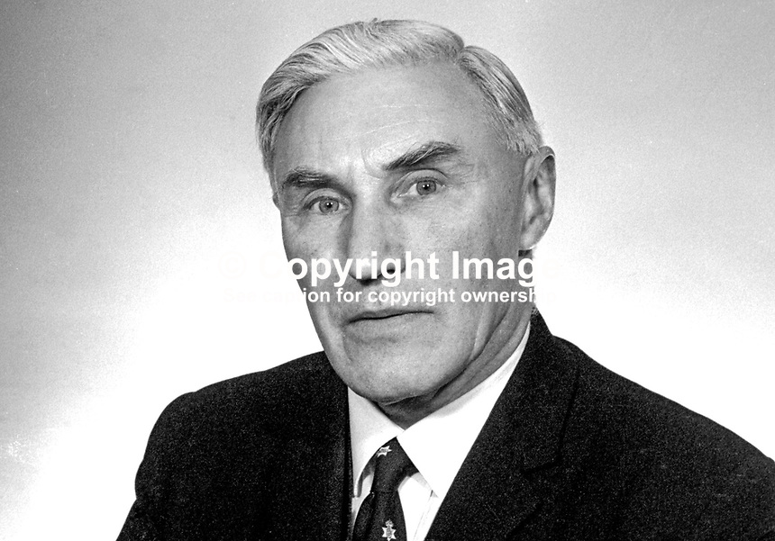 Herbert Whitten, MP, Ulster Unionist, N Ireland Parliament, Stormont, Belfast, February 1969, 196902000060b<br /> <br /> Copyright Image from Victor Patterson, 54 Dorchester Park, Belfast, UK, BT9 6RJ<br /> <br /> Tel: +44 28 9066 1296<br /> Mob: +44 7802 353836<br /> Voicemail +44 20 8816 7153<br /> Email: victorpatterson@me.com<br /> Email: victorpatterson@gmail.com<br /> <br /> IMPORTANT: My Terms and Conditions of Business are at www.victorpatterson.com