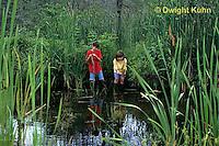 FA27-131z  Children exploring at pond