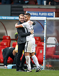 13.10.2018 Partick Thistle v Dundee Utd: Robbie Neilson and Rachid Bouhenna at FT