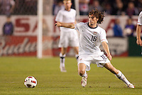 USA's Mixx Diskerud (16) moves off the ball. US Men's National team played the National team of Chile to 1-1 draw at Home Depot Center stadium in Carson, California on Saturday January 22, 2010.