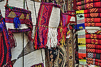 Colorful cloth items for sale at bazaar, Luxor, Egypt