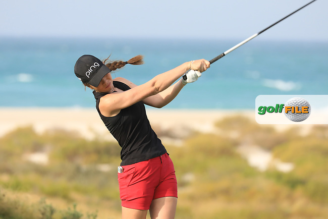 Ursula Wikstrom (FIN) during the first round of the Fatima Bint Mubarak Ladies Open played at Saadiyat Beach Golf Club, Abu Dhabi, UAE. 10/01/2019<br /> Picture: Golffile | Phil Inglis<br /> <br /> All photo usage must carry mandatory copyright credit (&copy; Golffile | Phil Inglis)
