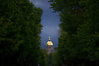 Notre Dame Avenue looking toward the Main Building...Photo by Matt Cashore/University of Notre Dame