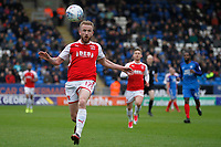 Paddy Madden of Fleetwood Town during the Sky Bet League 1 match between Peterborough and Fleetwood Town at London Road, Peterborough, England on 28 April 2018. Photo by Carlton Myrie.