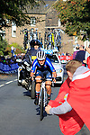 Elisa Longo Borghini (ITA) chases in 5th place on the second circuit of Harrogate during the Women Elite Road Race of the UCI World Championships 2019 running 149.4km from Bradford to Harrogate, England. 28th September 2019.<br /> Picture: Andy Brady | Cyclefile<br /> <br /> All photos usage must carry mandatory copyright credit (© Cyclefile | Andy Brady)