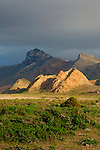 Sunset light on the mountains of Socotra, Yemen.