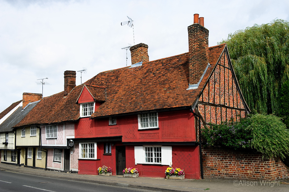 Houses and shops in Saffron Walden, the best looking small town in East Anglia