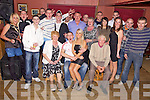 Key to the Door - Jeremiah Clifford from Ardfert, seated centre having a ball with friends and family at his 21st birthday party held in McElligot's Bar, Ardfert on Friday night...