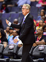 Washington, DC - June 15, 2018: Sparks head coach Brian Agler on the sideline during game between the Washington Mystics and Los Angeles Sparks at the Capital One Arena in Washington, DC. (Photo by Phil Peters/Media Images International)
