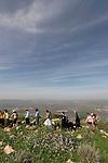 Israel, the Iris trail on Mount Gilboa, overlooking Harod valley