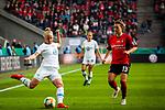 01.05.2019, RheinEnergie Stadion , Köln, GER, DFB Pokalfinale der Frauen, VfL Wolfsburg vs SC Freiburg, DFB REGULATIONS PROHIBIT ANY USE OF PHOTOGRAPHS AS IMAGE SEQUENCES AND/OR QUASI-VIDEO<br /> <br /> im Bild | picture shows:<br /> Pia-Sophie Wolter (VfL Wolfsburg #20) vor Sandra Starke (SC Freiburg Frauen #13) am Ball, <br /> <br /> Foto © nordphoto / Rauch