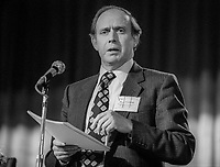 Eric Varley, MP, Labour Party, UK, addresses annual conference October 1982, 198210000474<br /><br />Copyright Image from Victor Patterson, 54 Dorchester Park, <br />Belfast, UK, BT9 6RJ<br /><br />t1: +44 28 9066 1296 (from Rep of Ireland 048 9066 1296)<br />t2: +44 28 9002 2446 (from Rep of Ireland 048 9002 2446)<br />m: +44 7802 353836<br /><br />victorpatterson@me.com<br />victorpattersonbelfast@gmail.com<br /><br />Please see my Terms and Conditions of Use at victorpatterson.com. It is IMPORTANT that you familiarise yourself with them.<br /><br />Images used on the Internet incur an additional cost and must be visibly watermarked i.e. &copy;Victor Patterson within the body of the image and copyright metadata must not be deleted. Images used on the Internet have a size restriction of 4kbs and are chargeable at rates available at victorpatterson.com.<br /><br />This image is available only for the use of the download recipient i.e. television station, newspaper, magazine, book publisher, etc, and must not be passed on to any third party. It is also downloaded on condition that each and every usage is notified within 7 days to victorpatterson@me.com<br /><br />The right of Victor Patterson (or the named photographer) to be identified as the author is asserted in accordance with The Copyright Designs And Patents Act (1988). All moral rights are asserted.