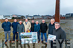 Pictured at the Island of Geese site in Tralee Town on Wednesday morning last were l-r: Colm Nagle (Tralee Municipal District Engineer), Mikey Sheehy, Sam Locke, Jim Finucane, Cathal Foley, Michael Scannell (Kerry County Council), Kevin Burns (Kerry County Council), David Doyle (Senior Engineer Kerry County Council) and Diarmuid Reilly (Engineer Kerry County Council).