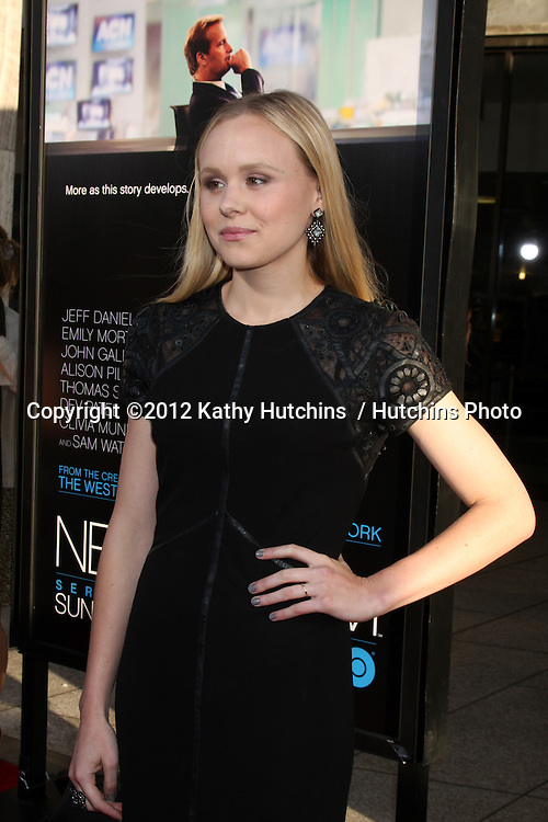 """LOS ANGELES - JUN 20:  Alison Pill arrives at HBO's """"The Newsroom"""" Los Angeles Premiere at Cinerama Dome Theater on June 20, 2012 in Los Angeles, CA"""