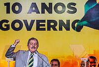SAO PAULO, SP, 20 FEVEREIRO 2013 -  10 ANOS DO PARTIDO DOS TRABALHADORES GOVERNO FEDERAL NO PODER - O ex presidente da República Luiz Inácio Lula da Silva  durante a festa do Partido dos Trabalhadores (PT) para celebrar 33 anos do partido e dez anos no comando do Governo Federal, no Holiday Inn Parque Anhembi, na zona norte de São Paulo, nesta quarta-feira, 20. FOTO: WILLIAM VOLCOV / BRAZIL PHOTO PRESS