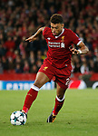 Alex Oxlade-Chamberlain of Liverpool during the Champions League Group E match at the Anfield Stadium, Liverpool. Picture date 13th September 2017. Picture credit should read: Simon Bellis/Sportimage