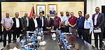 Palestinian Prime Minister Mohammad Ishtayeh meets with a delegation from the Office of the People's Committees for Refugees and a delegation from Tulkarm camp, in the West Bank city of Ramallah, August 31, 2019. Photo by Prime Minister Office