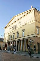 Veduta esterna del Teatro Regio di Parma.<br /> Exterior of the Teatro Regio in Parma.<br /> UPDATE IMAGES PRESS/Riccardo De Luca