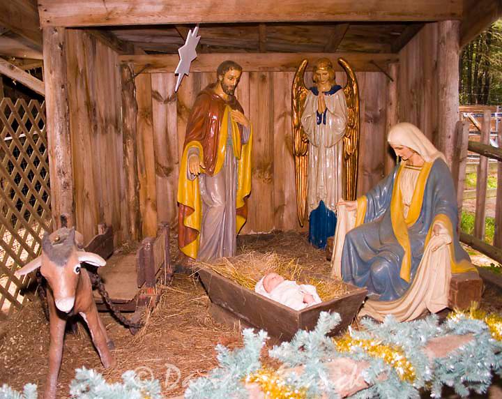Nativity scene at Santa's Land USA in Putney, Vermont