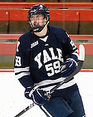 Chad Ziegler (Yale - 59) - The Harvard University Crimson defeated the visiting Yale University Bulldogs 8-2 in the third game of their ECAC Quarterfinal matchup on Sunday, March 11, 2012, at Bright Hockey Center in Cambridge, Massachusetts.
