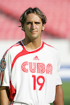 13 March 2008: Leonel Duarte (CUB) (19). The Honduras U-23 Men's National Team defeated the Cuba U-23 Men's National Team 2-0 at Raymond James Stadium in Tampa, FL in a Group A game during the 2008 CONCACAF's Men's Olympic Qualifying Tournament.