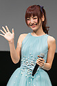 Singer and actress Sayaka Kanda greets to the audience during the Princess Beauty Festival for the 35th anniversary of 25ans women's magazine on October 3, 2015, Tokyo, Japan. The event introduces beauty methods and the latest cosmetic products with celebrities and guests. (Photo by Rodrigo Reyes Marin/AFLO)