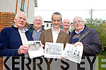 from l-r were: Eddie de Lacey, Paudie Fitzgerald, Louis Moriarty, Sean O'Connor and Paddy O'Callaghan. Former RAS cyclists are holding a get together in the Sneem Hotel on the 17th and 18th of October. From l-r were: Eddie Lacey, Paudie Fitzgerald, Louis Moriarty, Sean O'Connor and Paddy O'Callaghan.
