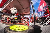 8th June 2017, Alghero, West Coast of Sardinia, Italty; WRC Rally of Sardina,  The garage of Prokop