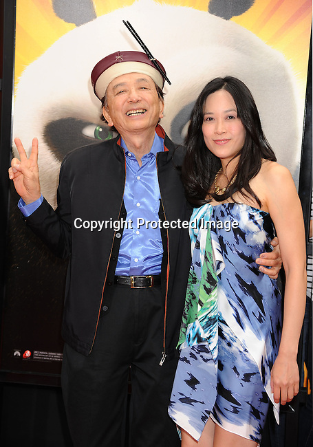 "HOLLYWOOD, {CA} -MAY 22: James Hong arrives at the Los Angeles premiere of ""Kung Fu Panda 2"" held at Grauman's Chinese Theatre on May 22, 2011 in Hollywood, California."