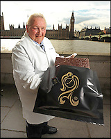 BNPS.co.uk (01202) 558833<br /> Picture: Rowntree's<br /> <br /> Brian Sollit in a promotional picture outside Westminster<br /> <br /> The chocolatier behind the famous After Eight Mints, Matchmakers, Drifter and Lion bars &nbsp;has died. Brian Sollit was a real-life Willie Wonka who spent his career working for confectionary firm Rowntree's. In the 1960s he was the head of the 'cream' department was tasked with coming up with a new luxurious chocolate that was to be wrapped around a peppermint fondant.&nbsp;He went away and experimented with various shapes and sizes before coming up with the classic wafer thin design that became the After Eight mint.
