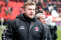 Charlton manager, Karl Robinson during the Sky Bet League 1 match between Charlton Athletic and Fleetwood Town at The Valley, London, England on 17 March 2018. Photo by Carlton Myrie.