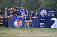 Mikko Korhonen (FIN) on the 2nd tee during Round 3 of the Sky Sports British Masters at Walton Heath Golf Club in Tadworth, Surrey, England on Saturday 13th Oct 2018.<br /> Picture:  Thos Caffrey | Golffile