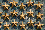 Washington DC; USA: The National World War II Memorial on the Mall.  Each star represents 100 soldiers who died..Photo copyright Lee Foster Photo # 7-washdc83213
