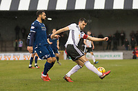 7th March 2020; Somerset Park, Ayr, South Ayrshire, Scotland; Scottish Championship Football, Ayr United versus Dundee FC; Steven Bell of Ayr United clears from Kane Hemmings of Dundee