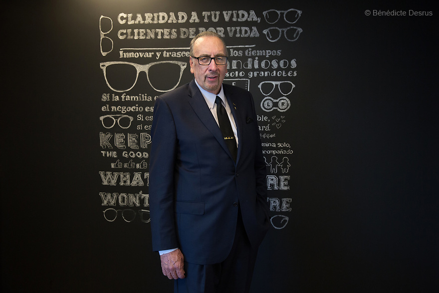 "Portrait of Frank Devlyn, the president of Devlyn Group in Mexico City, Mexico on May 12, 2017. Frank Devlyn runs a company that has been in the market for 80 years and which does business through 1,200 branches located across Mexico, Guatemala, El Salvador and the United States. It has become the largest retail optical company in Latin America. Frank Devlyn earned the Entrepreneur Of The Year™ 2016 for Mexico. He has pursued social causes through the Devlyn Foundation, providing free eyeglasses to more than one million Mexicans who lack access to proper eye care and eyewear. The former president of charitable body Rotary International, he is also the author of a string of books including ""Frank Talk"", ""Frank Talk on Leadership"" and ""Frank Talk on Public Speaking"". (Photo by Bénédicte Desrus)"